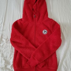 Old Navy Red Fluffy Hoodie